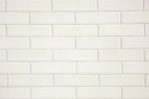 White vintage tiles background. stock photo