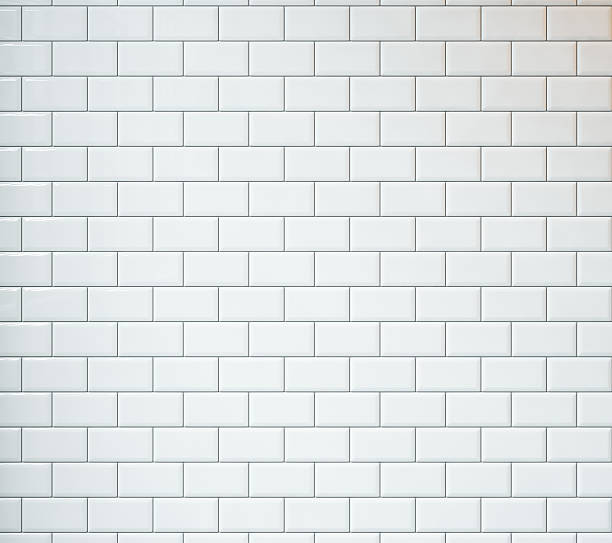 white vintage tiles background - tile stock photos and pictures