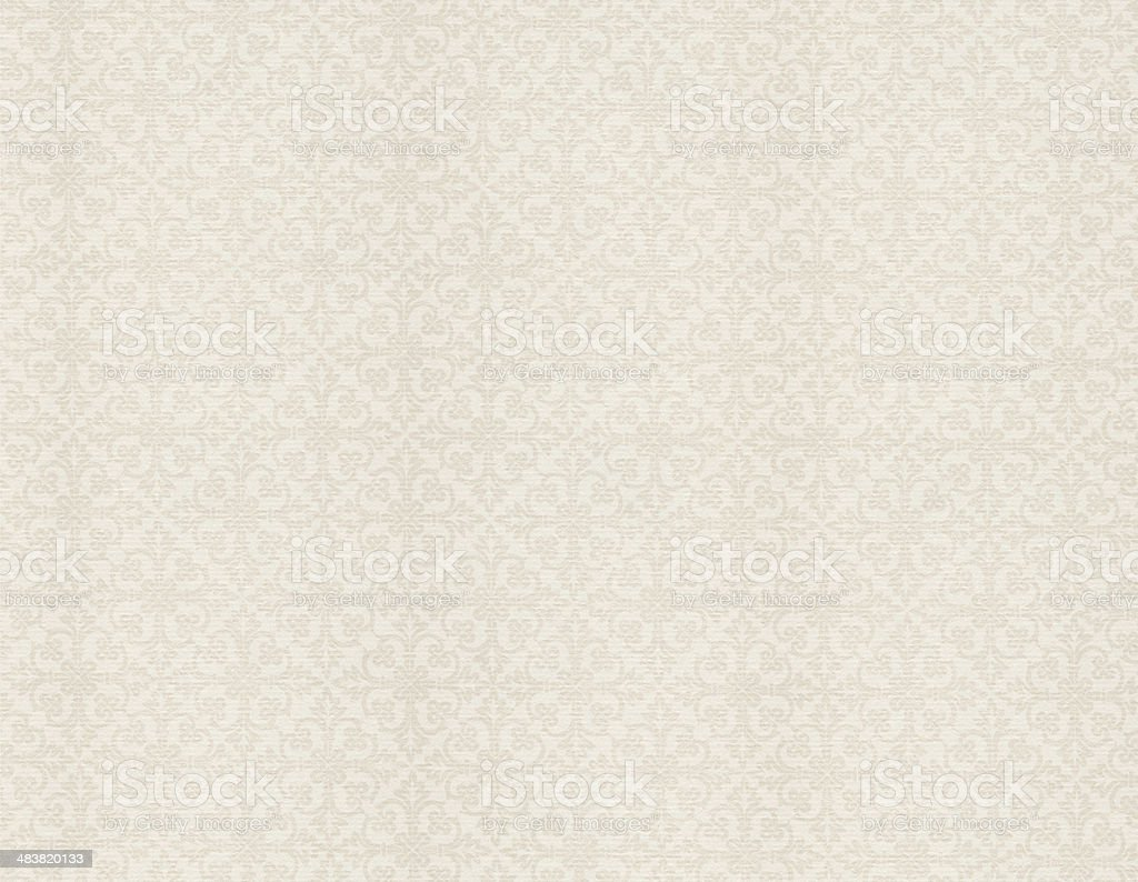 White Vintage Wallpaper royalty-free stock photo