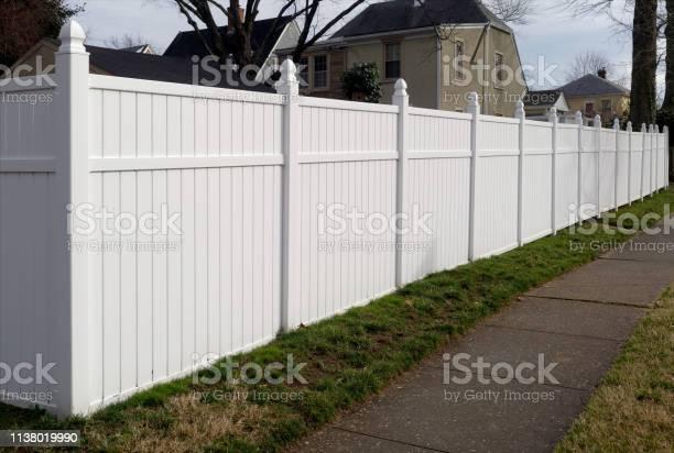 Photo of White Vinyl Fence
