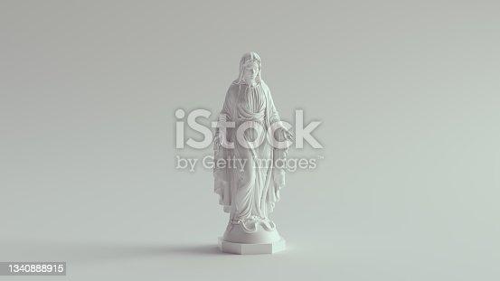 istock White Virgin Mary Statue Marble Art Religion Sculpture 1340888915