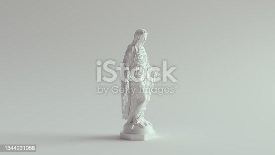 istock White Virgin Mary Statue Marble Art Religion Sculpture 1344231058