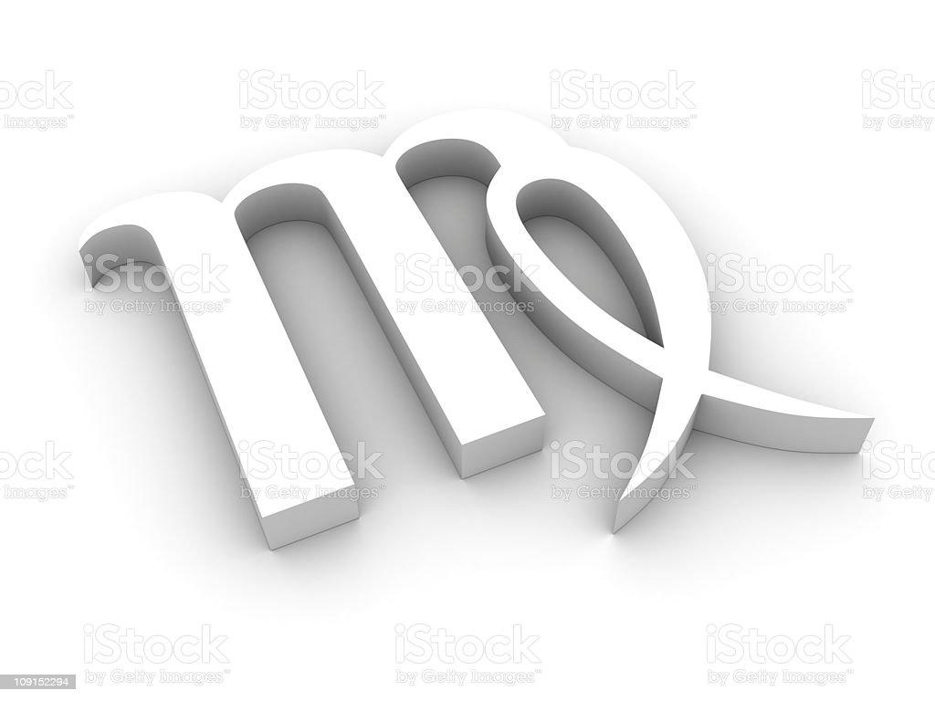 White virgo symbol royalty-free stock photo
