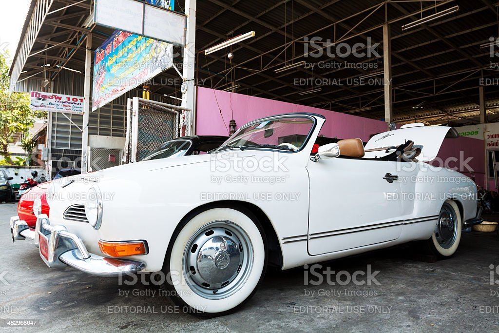 White Volkswagen Karmann Ghia Convertible Car Stock Photo Download Image Now Istock