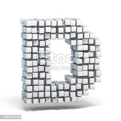 583978154istockphoto White voxel cubes font Letter D 3D 1061074140