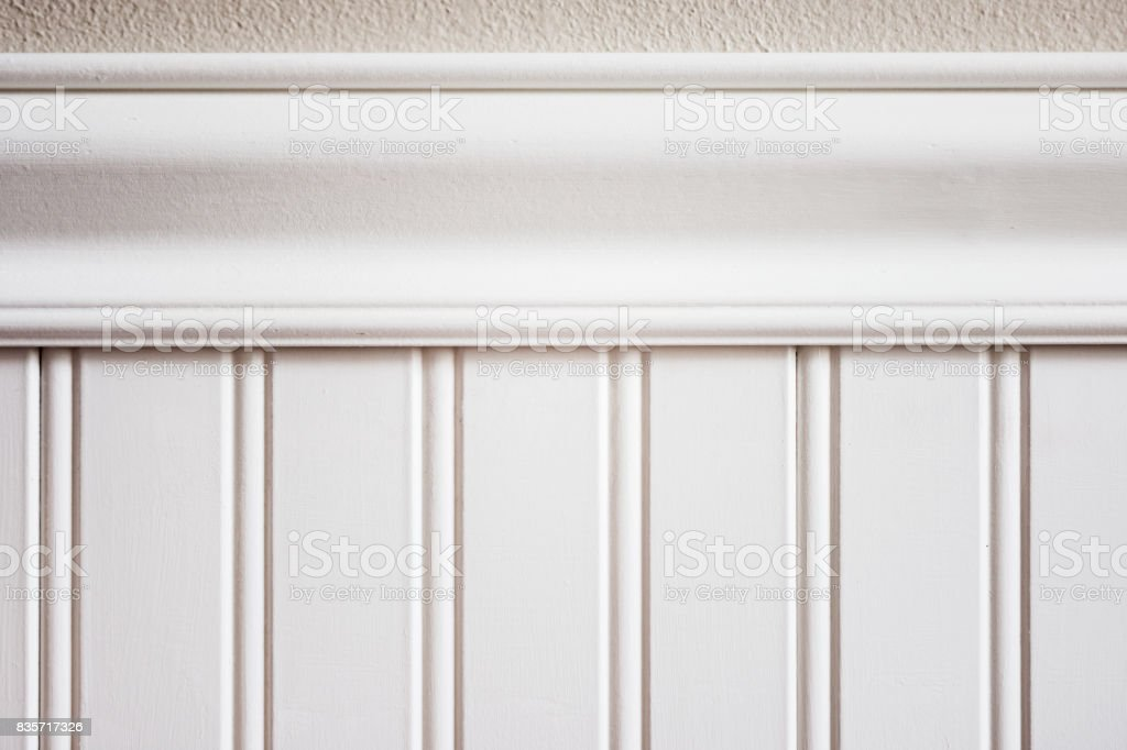 White wainscot or bead board stock photo