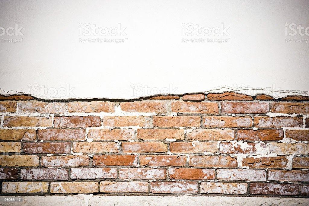 White wall and bricks royalty-free stock photo