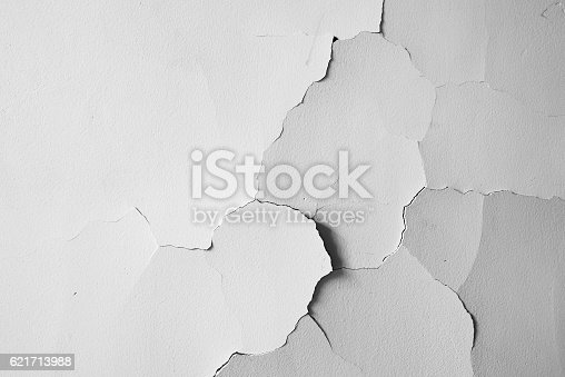 White wall crack texture background