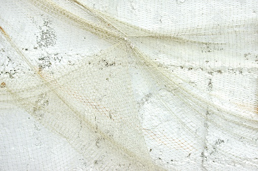 White Wall Decoration with Fishnet