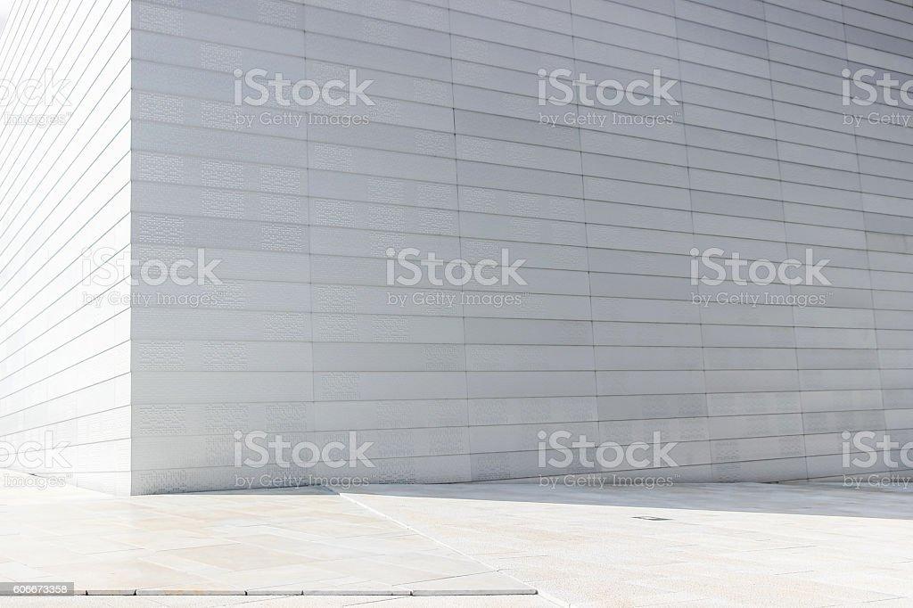 white wall of norway opera house - foto de stock