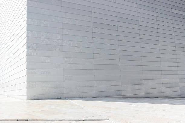 white wall of norway opera house – Foto