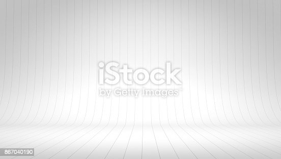 istock White wall room background, space backdrop 867040190