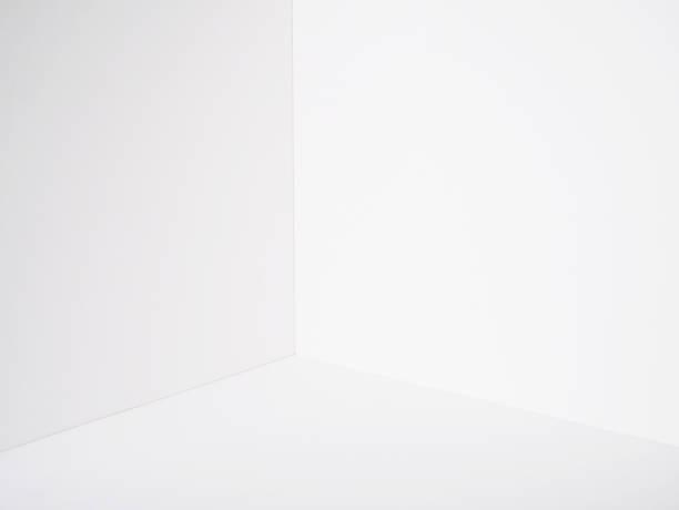 白い壁の部屋コーナー紙ボックス モデル切削アートワーク ストックフォト