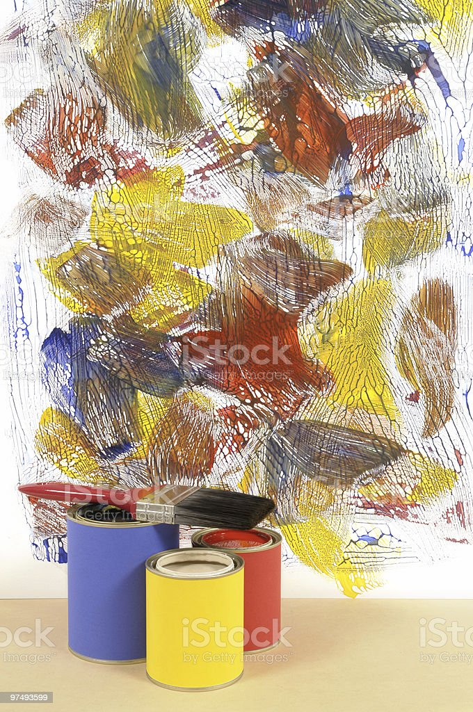White wall with abstract paint royalty-free stock photo