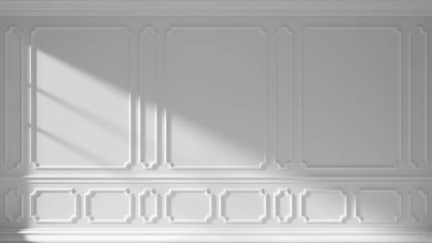 vit vägg med klassiska gjutning - solar panel bildbanksfoton och bilder