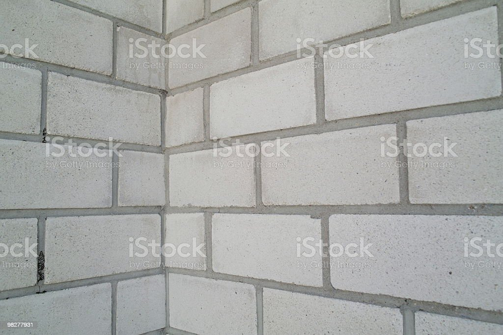 white wall with stones and corner royalty-free stock photo