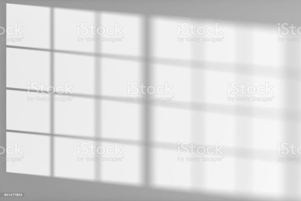 White wall with sunlight from window stock photo