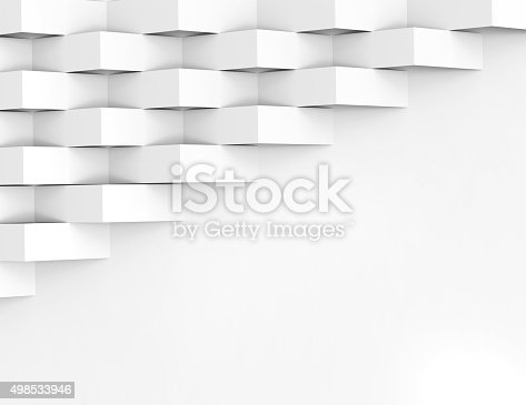 istock White wallpaper background for cover design 3d render 498533946