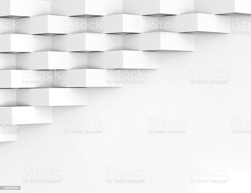 White wallpaper background for cover design 3d render stock photo