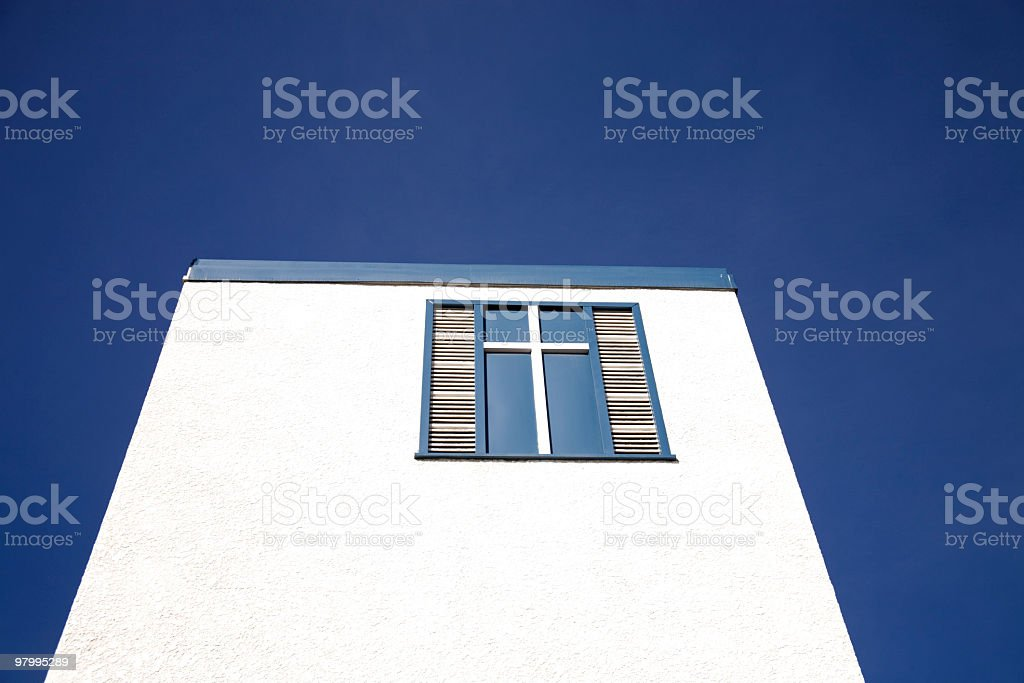 White walls, blue sky. royalty-free stock photo