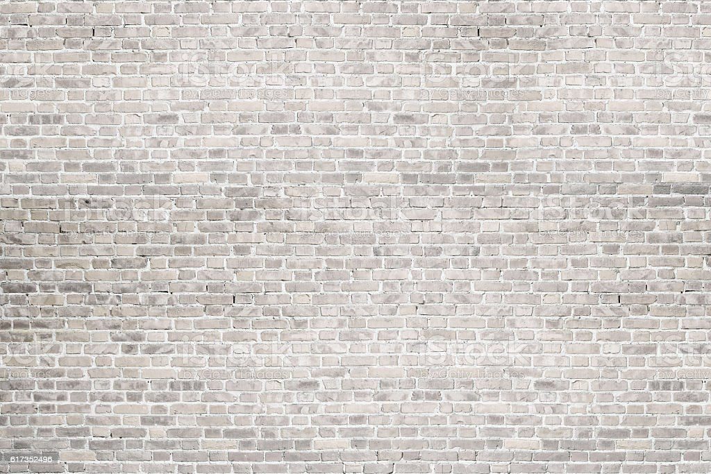 White wash brick wall texture. Background for text or image. stock photo