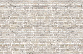 White wash old brick wall horizontal background