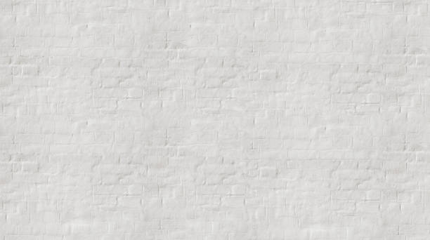white wash  painted old brick wall with plaster texture. - whitewashed stock photos and pictures