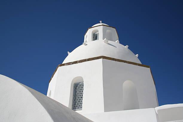 White Washed Walls of Santorini stock photo