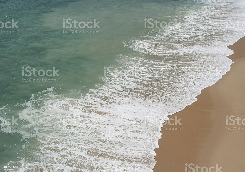White water and beach royalty-free stock photo