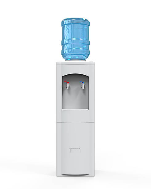 White Water Cooler White Water Cooler isolated on white background. 3D render cooler container stock pictures, royalty-free photos & images