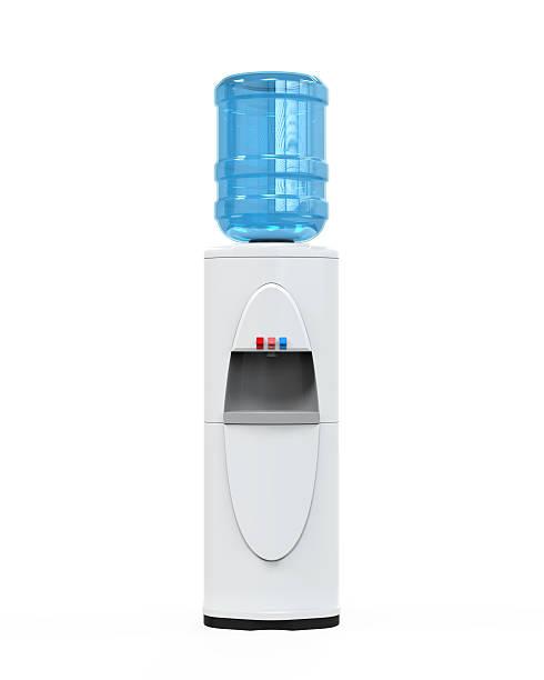 white distributeur d'eau - fontaine photos et images de collection