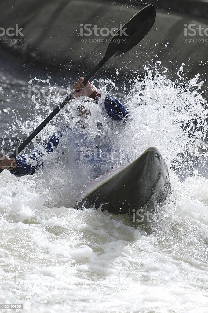 White water Kayak royalty-free stock photo