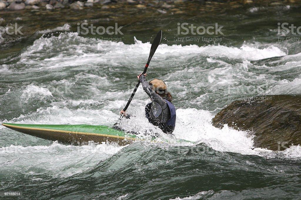 White Water Kayaker royalty-free stock photo