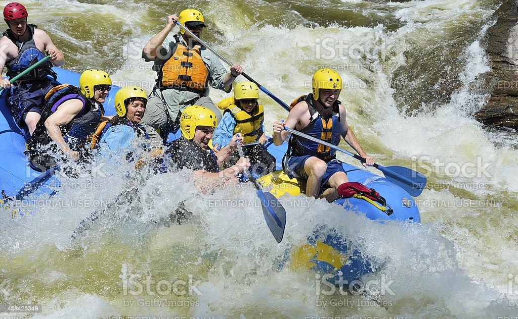 White Water Rafting, Colorado royalty-free stock photo