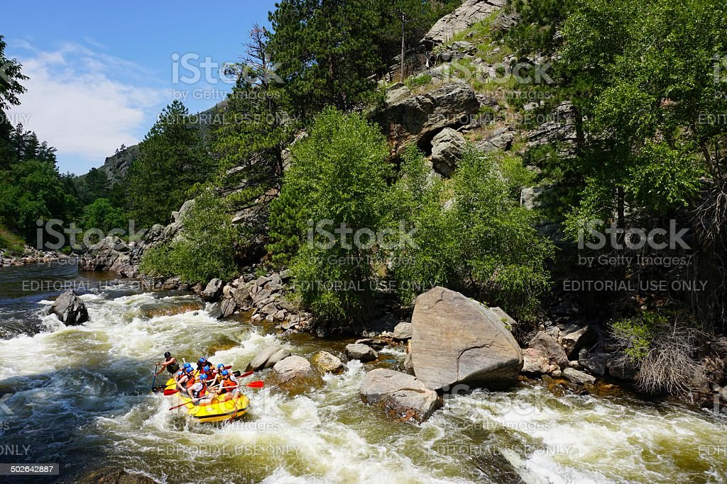 White Water Rafting, Colorado stock photo