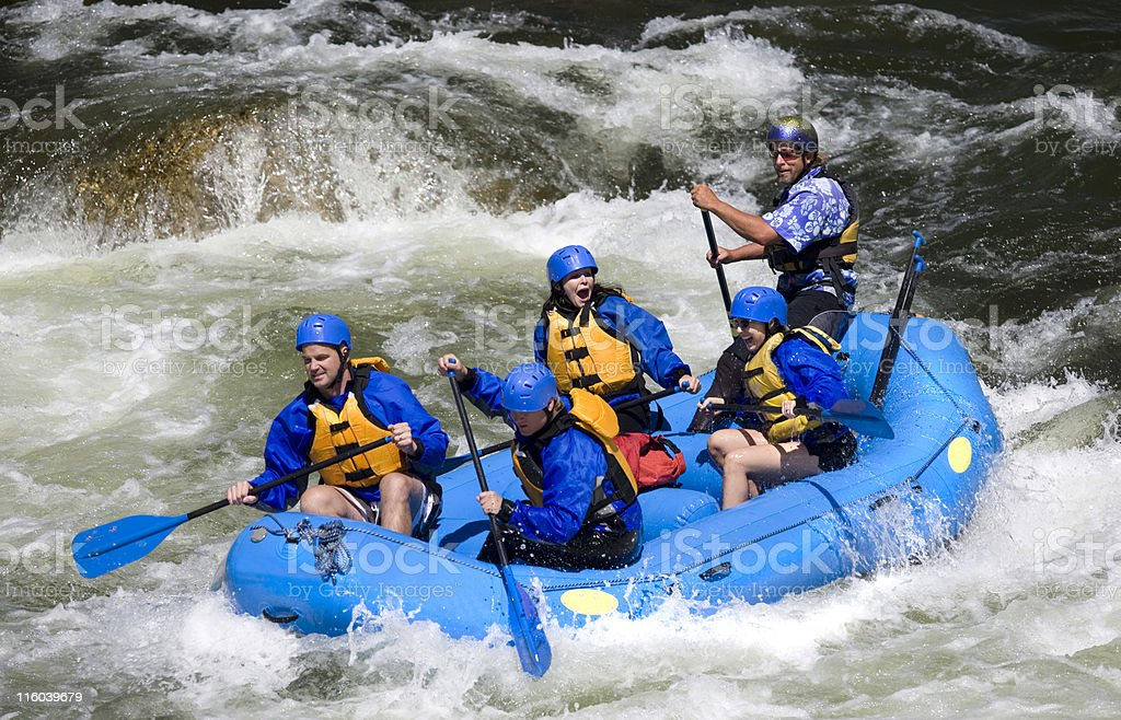White Water Rafting in Colorado royalty-free stock photo
