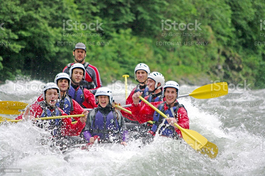 White Water Rafting in Colorado - Stock Image stock photo
