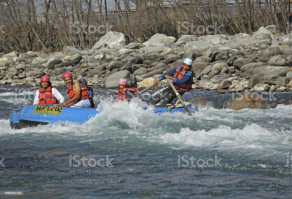 White Water Rafting in India stock photo
