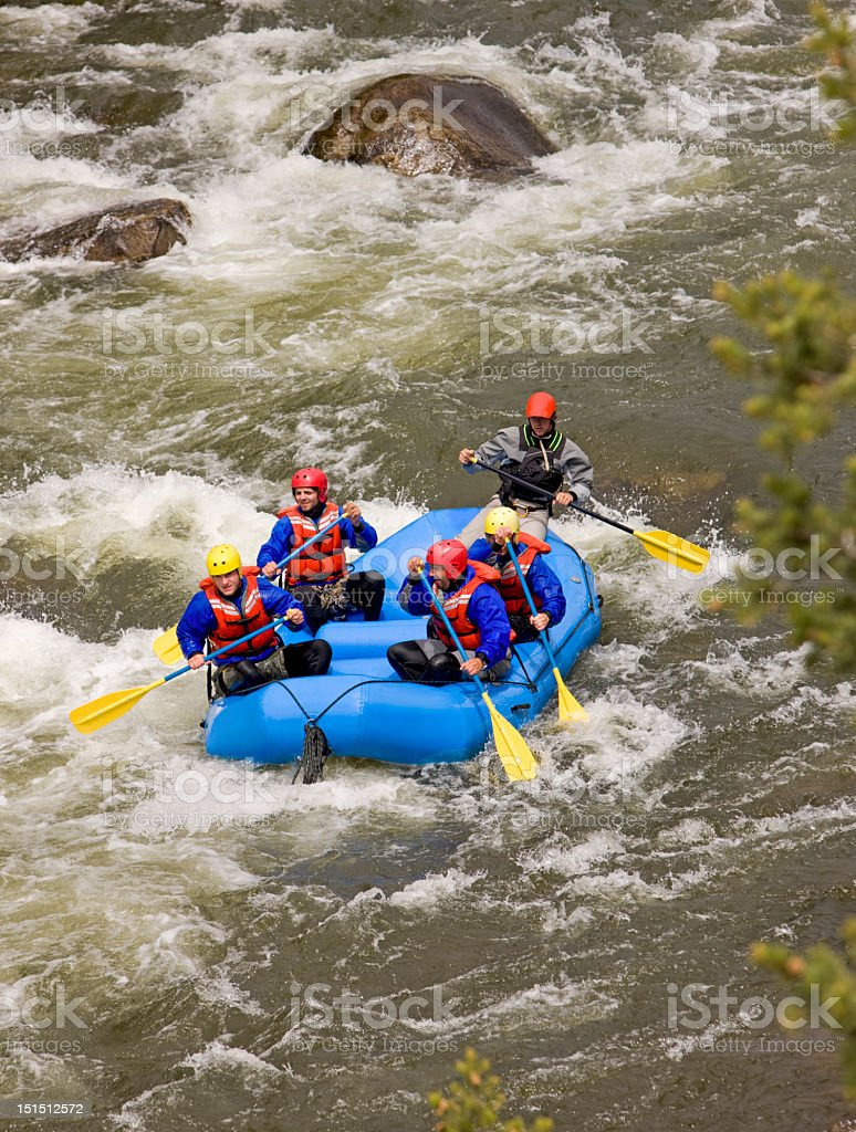 White Water Rafting On Arkansas River In Colorado stock photo