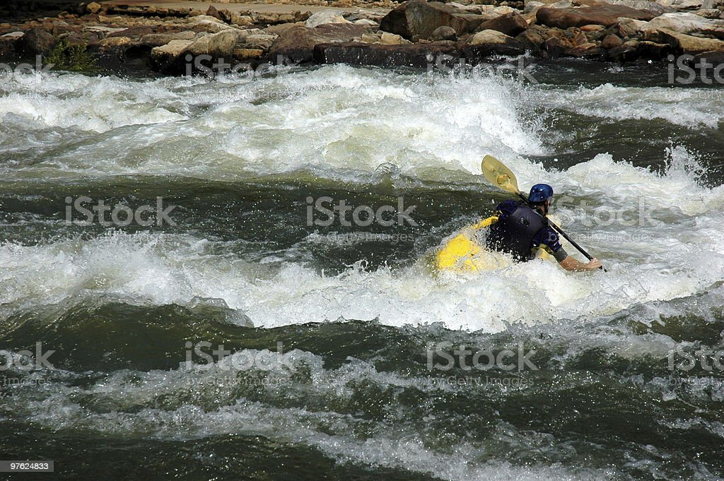 white water river kayaker royaltyfri bildbanksbilder