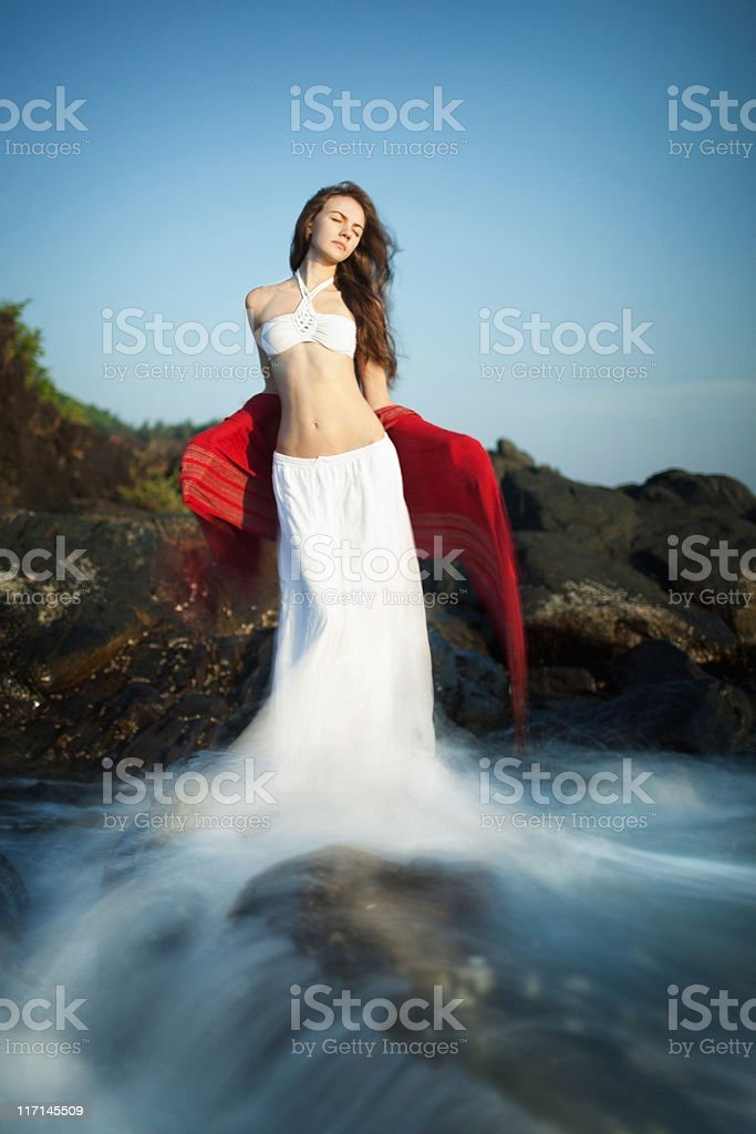 White water series stock photo