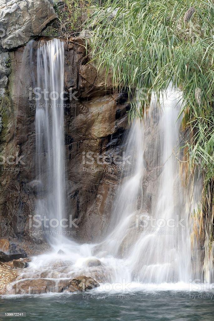 White Waterfall royalty-free stock photo