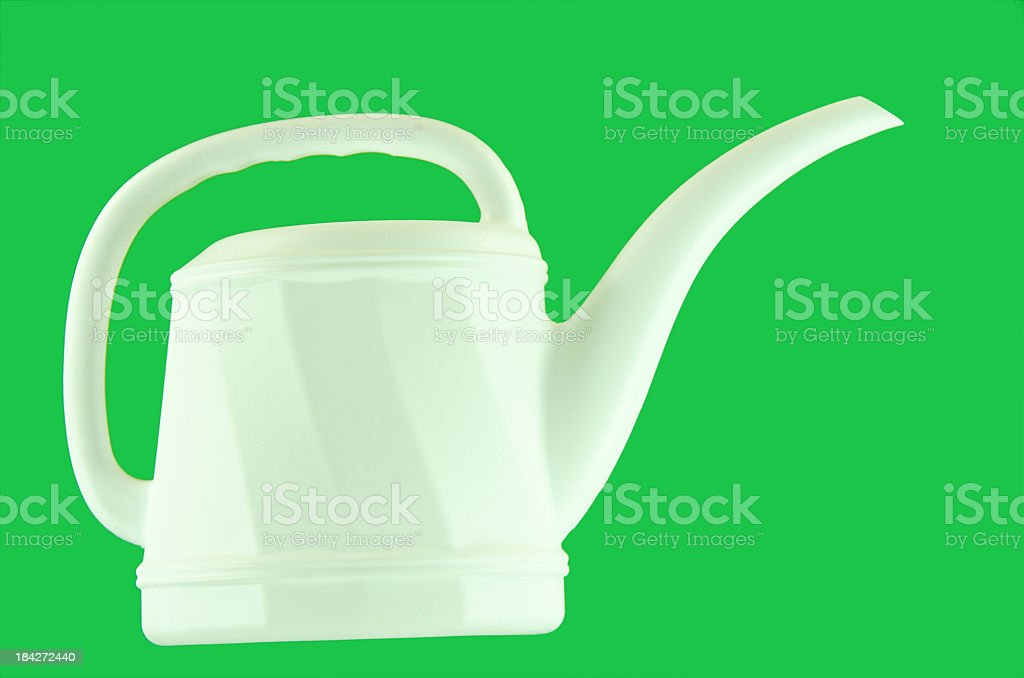 White Watering Can royalty-free stock photo