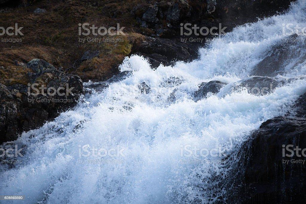 White waters stock photo