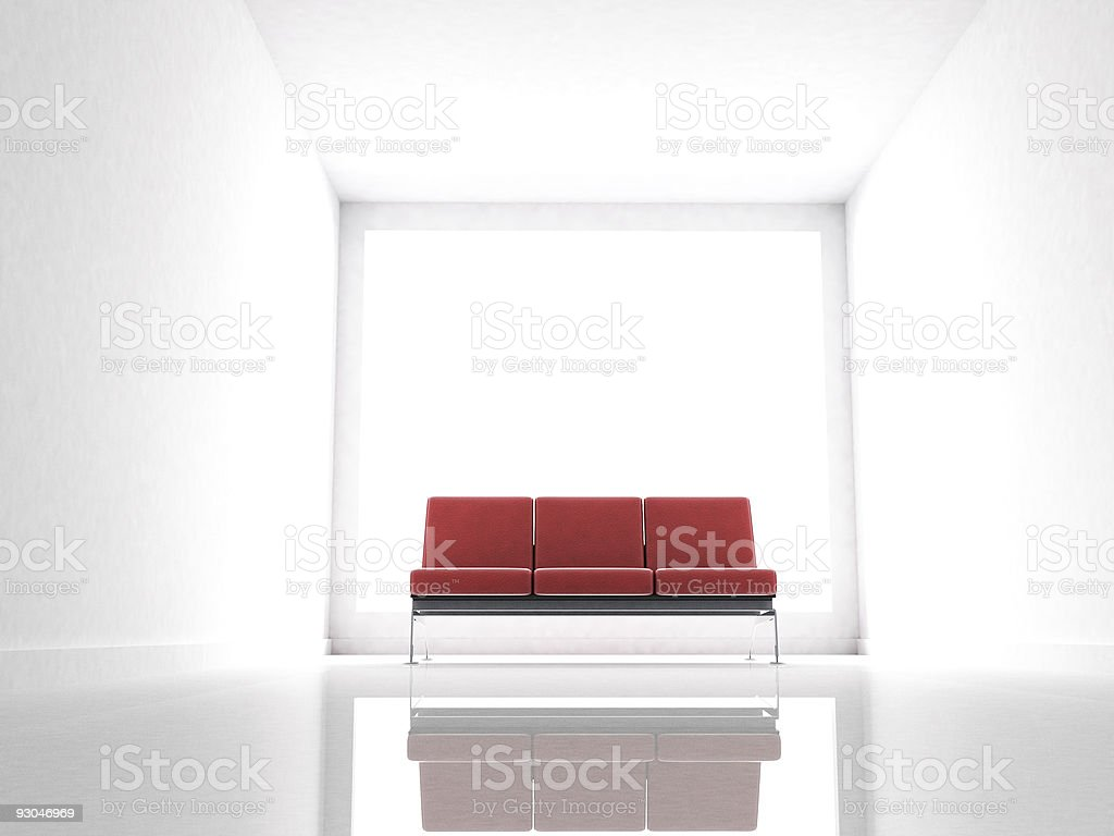 White watiting room - Royalty-free Abstract Stock Photo