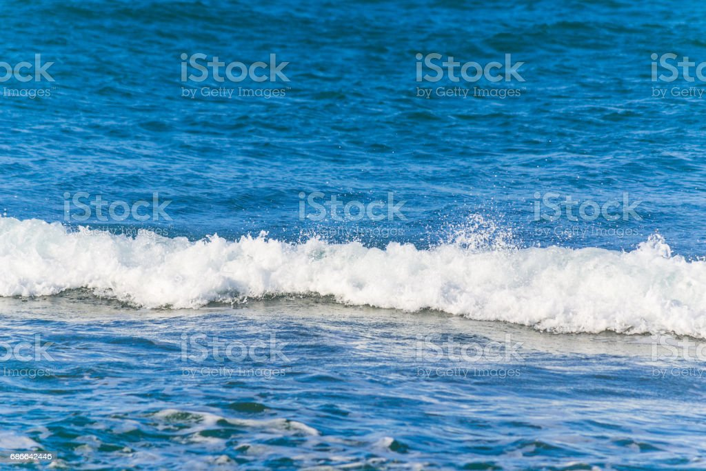White wave and blue sea royalty-free stock photo