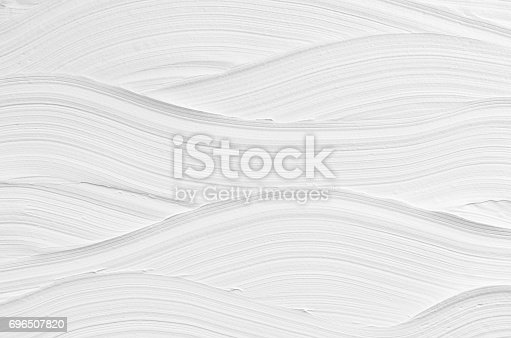 istock White wave plaster texture. Light modern abstract background. 696507820