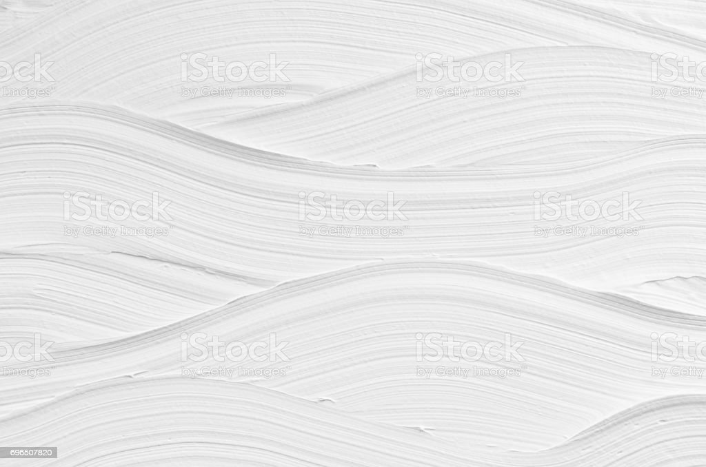 White wave plaster texture. Light modern abstract background. stock photo