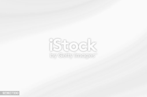 istock White waves with light gray, abstract soft background 923627330