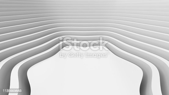 921696186 istock photo White wavy background-3d rendering 1135669883